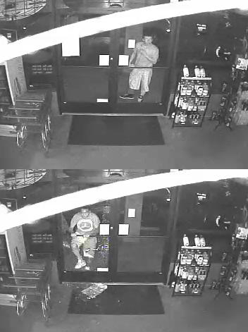 Surveillance images show the two men who broke into Mountain Post Liquors in Fountain Friday morning. _ Fountain Police Department_82575