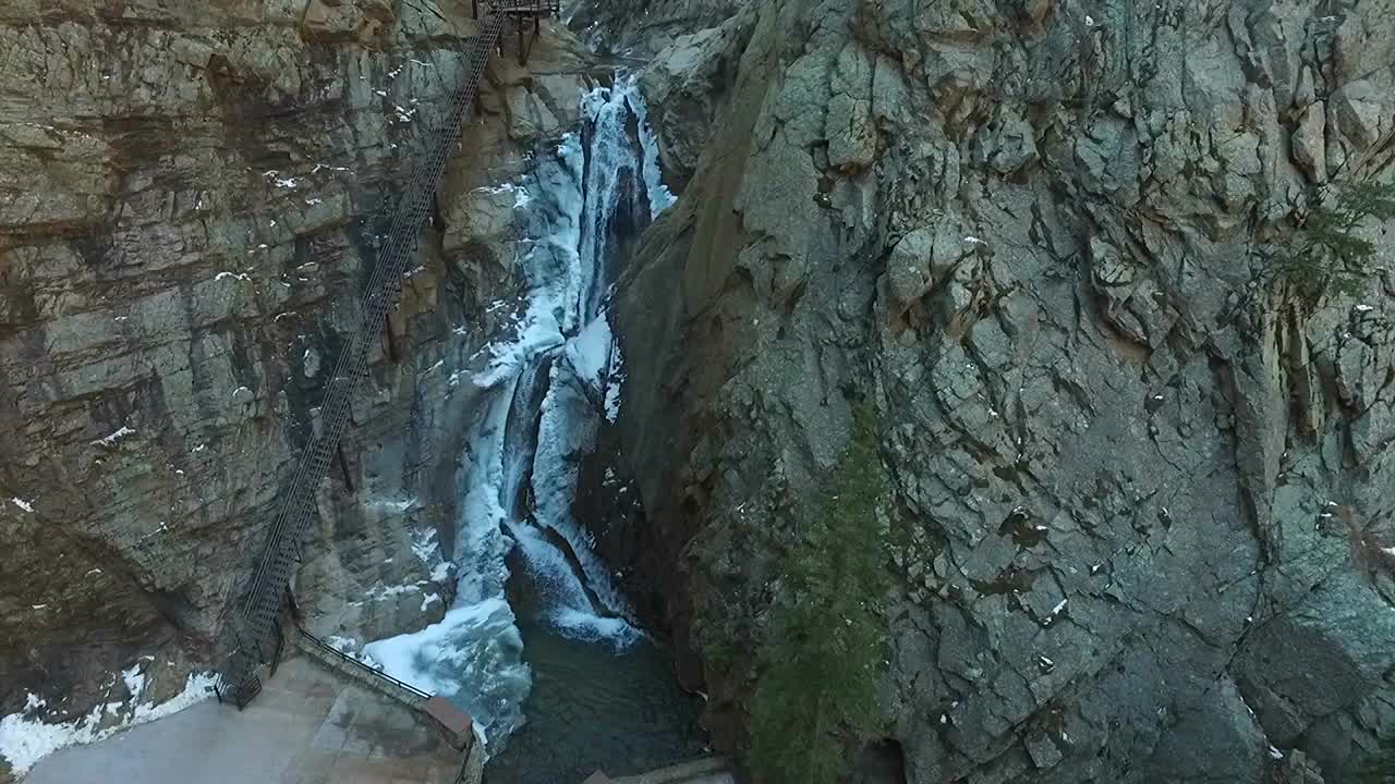Seven Falls as seen by drone. / FOX21 News file photo