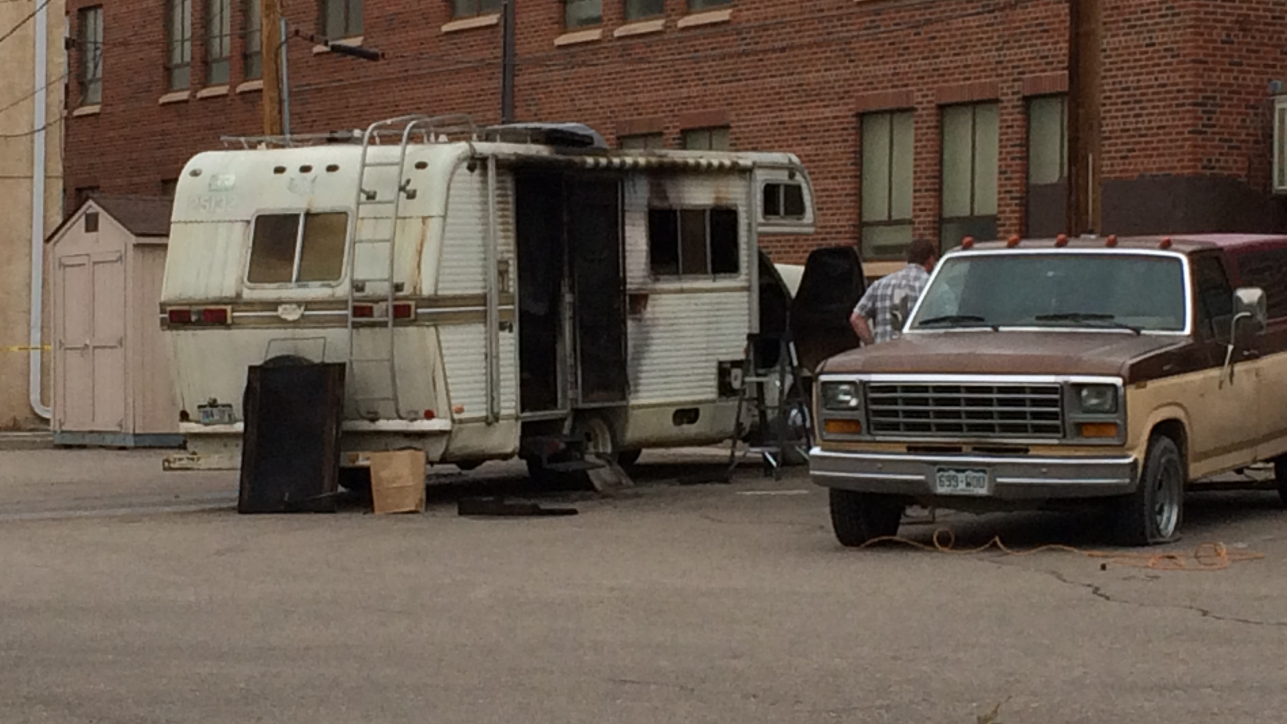 A body was found in a burned RV in the parking lot of a Pueblo church Thursday morning. _ Mike Duran - FOX21 News_157855
