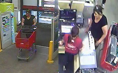 Deputies say this woman used a stolen check at a Pueblo Lowe's last month. _ Pueblo County Sheriff's Office_184398