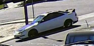 Police say two men left in this car after firing shots during an attempted robbery Sunday afternoon. _ Pueblo Police Department_193246