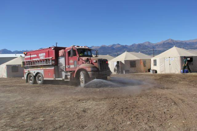 Firefighters fighting the Junkins Fire are staying at this camp. _ Junkins Fire Facebook page_200241