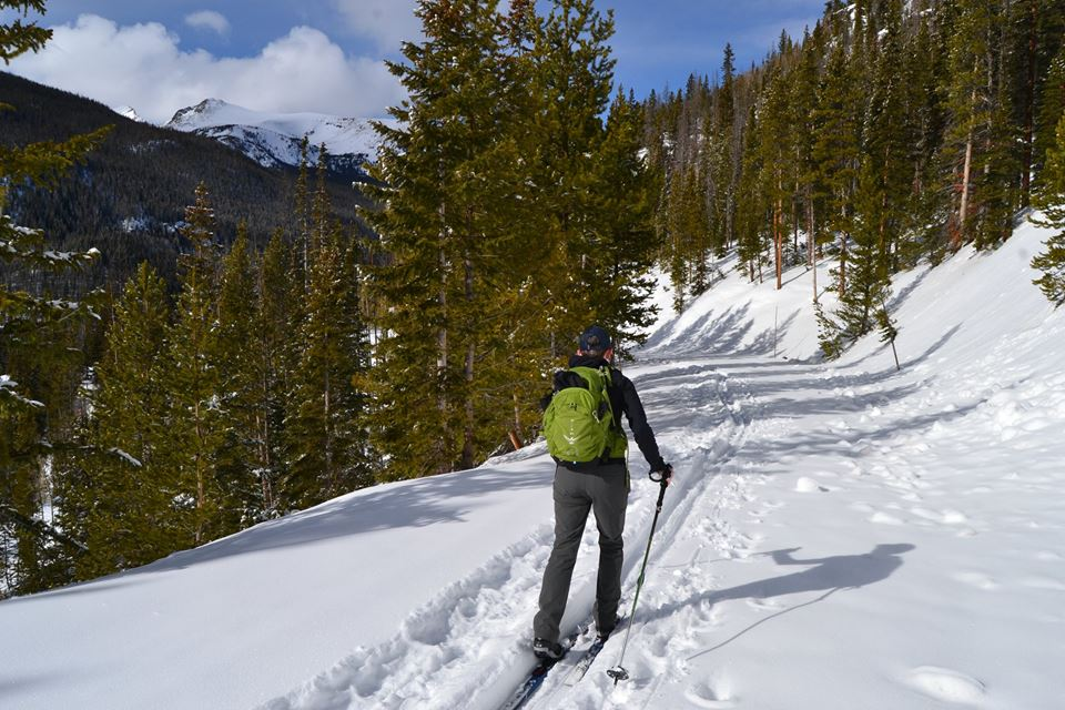 Cross-country skiing on Trail Ridge Road in Rocky Mountain National Park February 12, 2017. _ National Park Service photo_228874