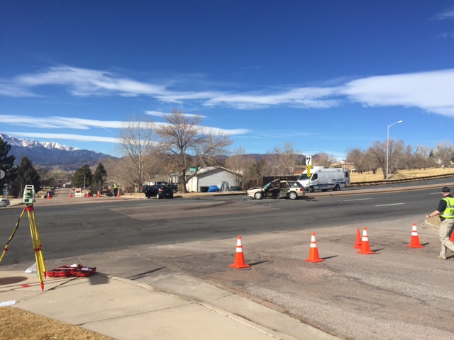 A crash on Union Boulevard Friday morning. / Wes Moskalski - FOX21 News