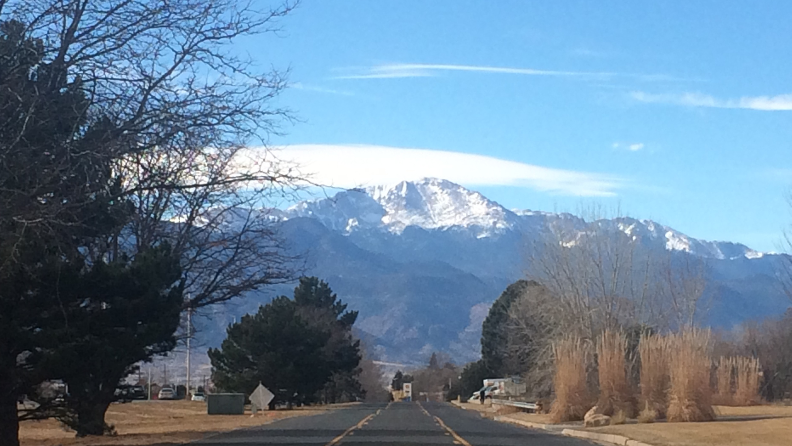 Pikes Peak as seen from eastern Colorado Springs on February 10, 2017. _ Angela Case - FOX21 News_226654