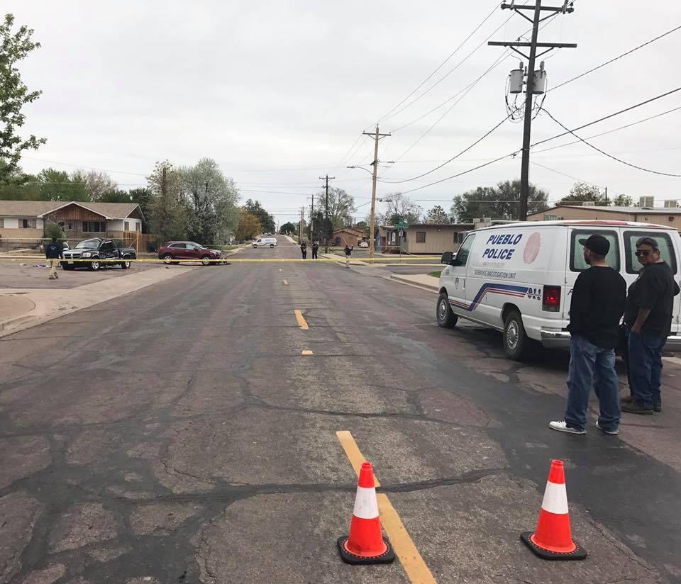 One person was killed in a crash at the intersection of Lakeview Avenue and Acero Avenue in Pueblo Friday afternoon. _ Courtesy Pueblo Police D_256341