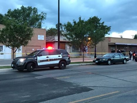 Pueblo police investigate a fatal shooting on Lake Avenue Thursday evening. _ Pueblo Police Department_267884