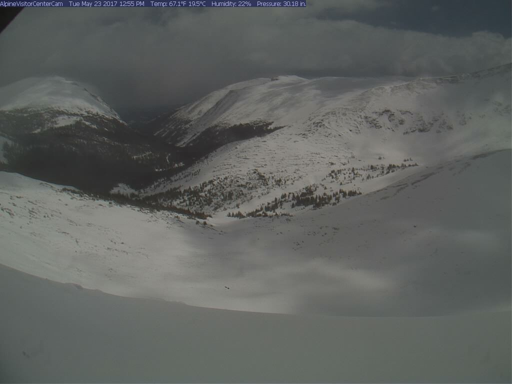 Rocky Mountain National Park from the Alpine Visitor Center around 1 p.m. Tuesday. _ Rocky Mountain National Park_266605