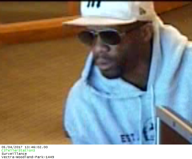 Surveillance image shows the man who robbed a Woodland Park bank Thursday afternoon. _ Woodland Park Police Department_259023