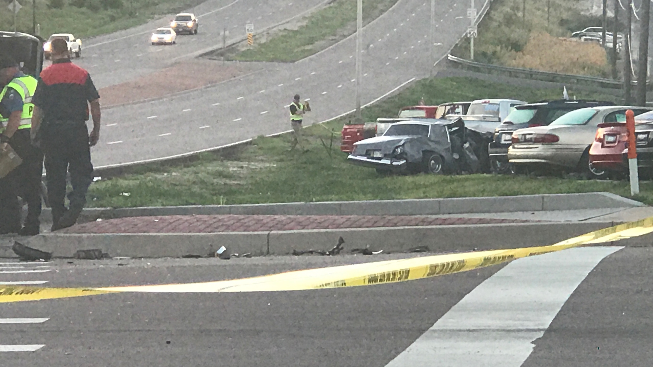One person was killed in a crash at the intersection of Platte Avenue and Chelton Road in Colorado Springs early Monday morning. _ Brett Robert_274407