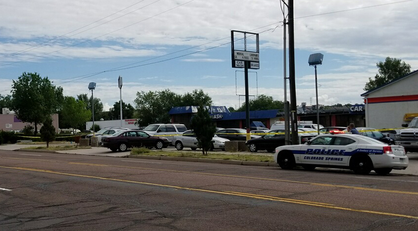 One person was killed and another was seriously injured in a robbery at Full Throttle Auto Service in Colorado Springs Thursday morning. _ Tren_287962