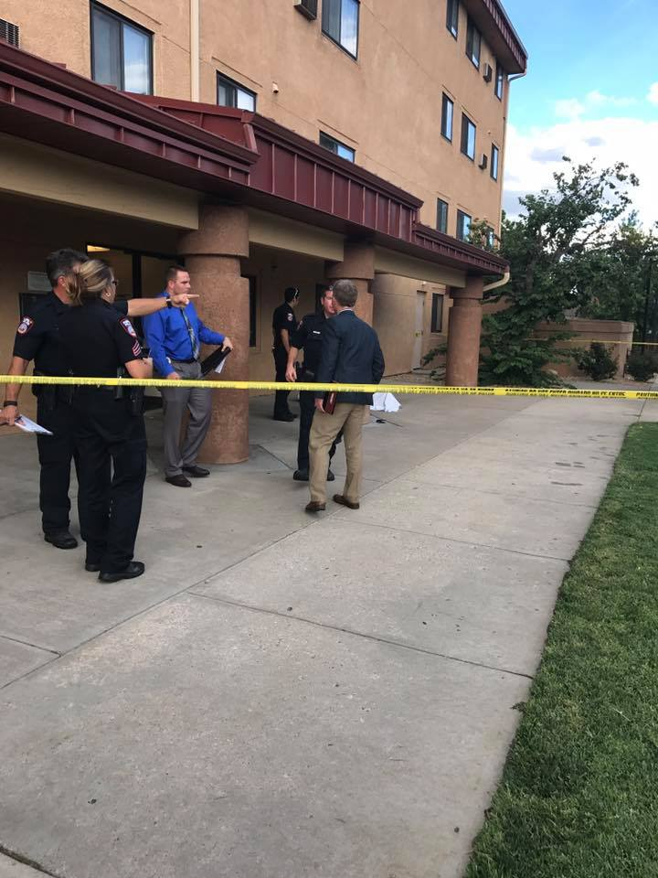 Police investigate a death at the Minnequa Park apartments in Pueblo Thursday afternoon. _ Pueblo Police Department_313564