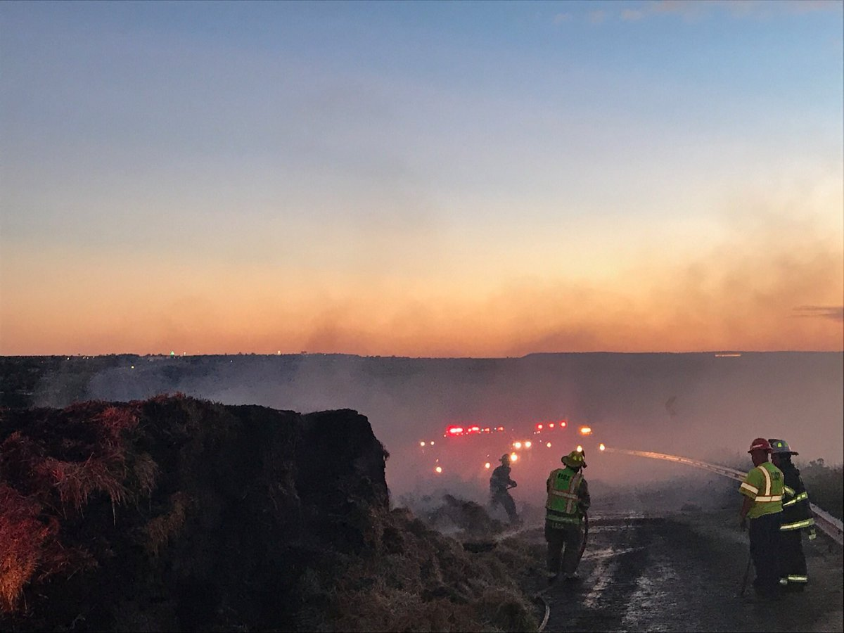Firefighters from the Rye Fire Department put out a semi fire on northbound Interstate 25 in Colorado City Friday morning. _ Colorado State Pat_316267