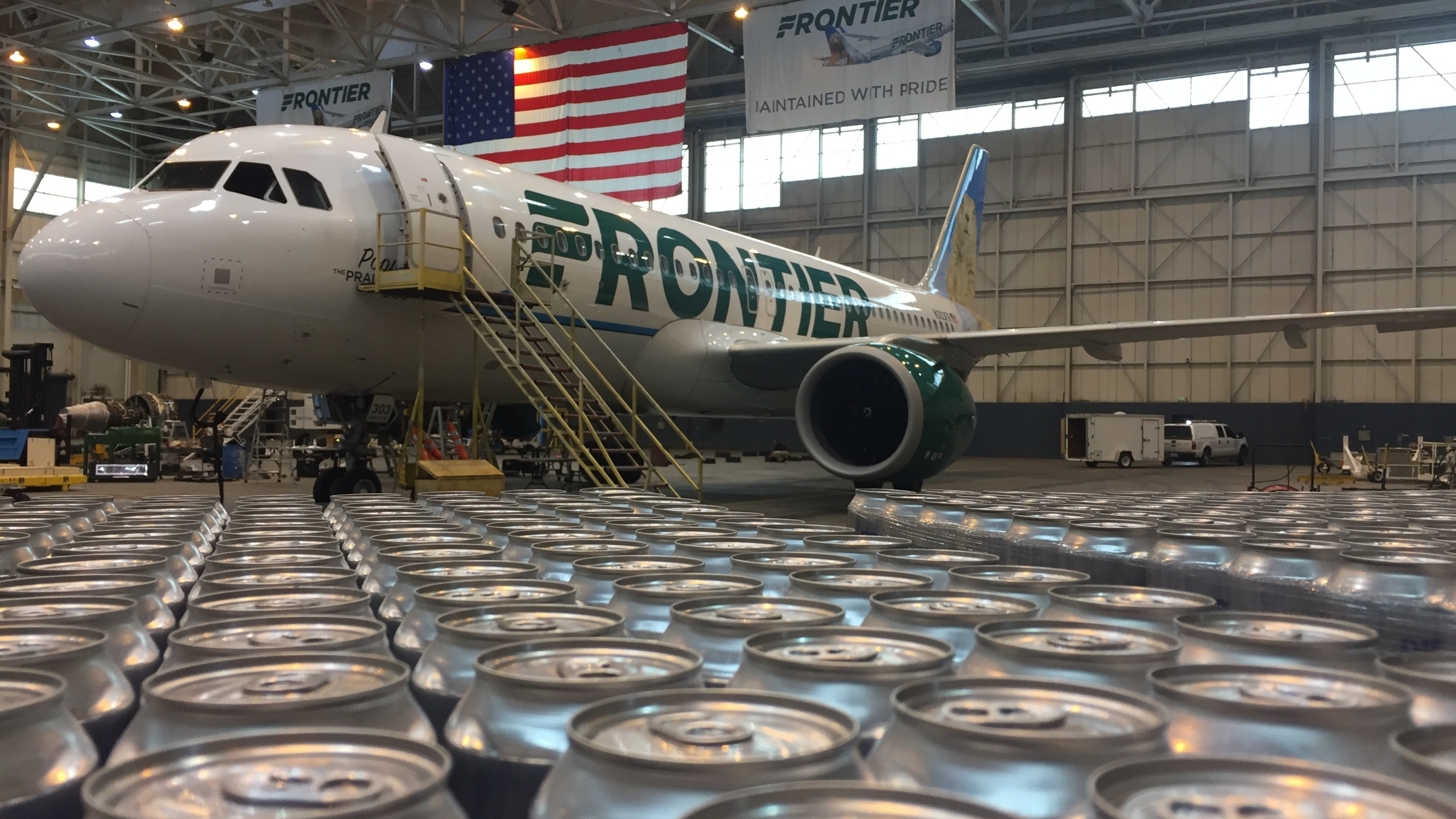 Colorado companies Oskar Blues and Frontier Airlines are teaming up to send canned drinking water to hurricane victims in Puerto Rico. _ Photo _319430