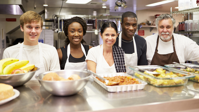 Portrait Of Kitchen Staff In Homeless Shelter_334686