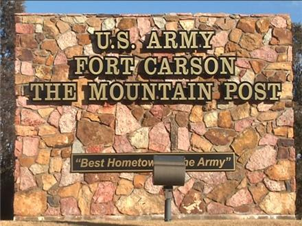 fort carson army post military entrance sign graphic