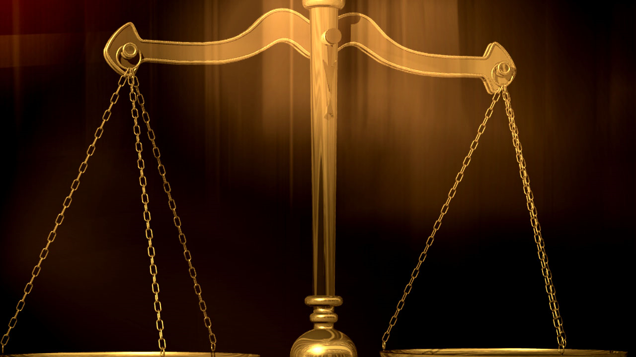 trial court scales justice sentencing graphic