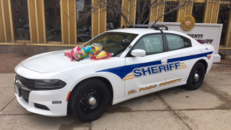 A memorial for Deputy Micah Flick has been set up outside the El Paso County Sheriff's Office at 27 East Vermijo Avenue in downtown Colorado Springs