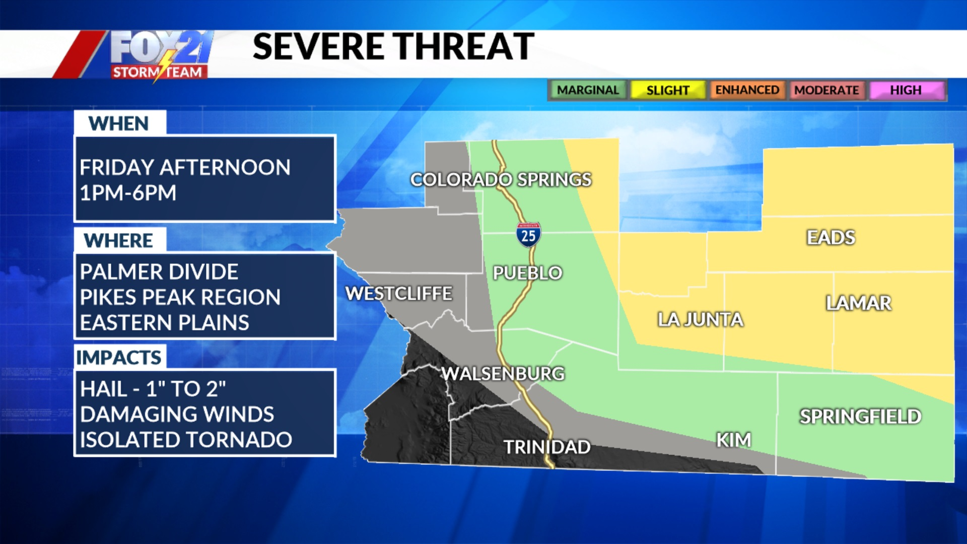 Friday Afternoon Severe Threat