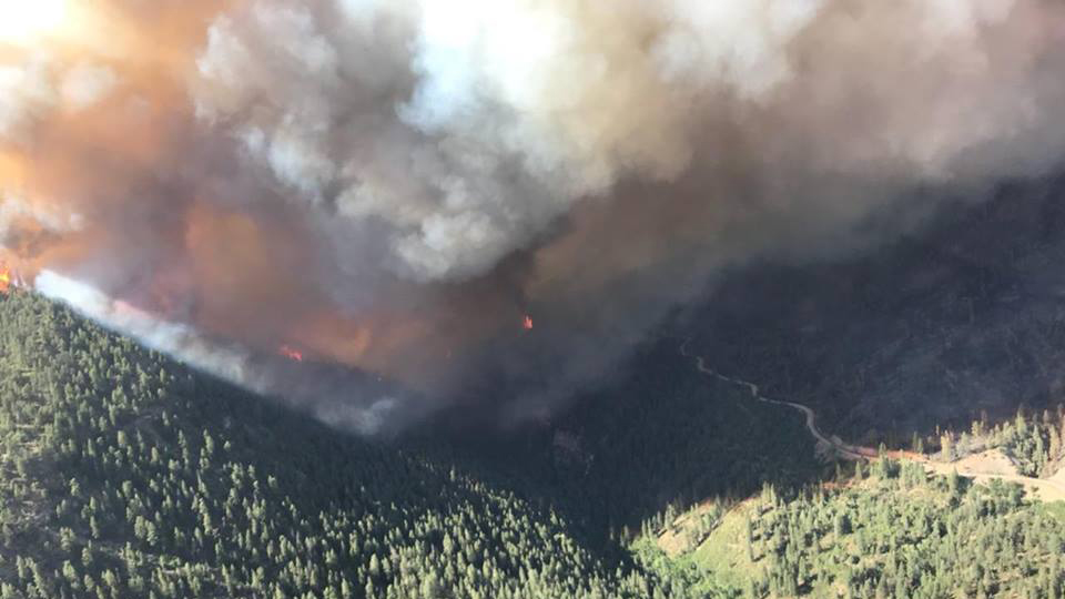 The 416 Fire burns in the Hermosa Creek drainage area on Sunday, June 11, 2018. / Photo courtesy 416 Fire on Facebook