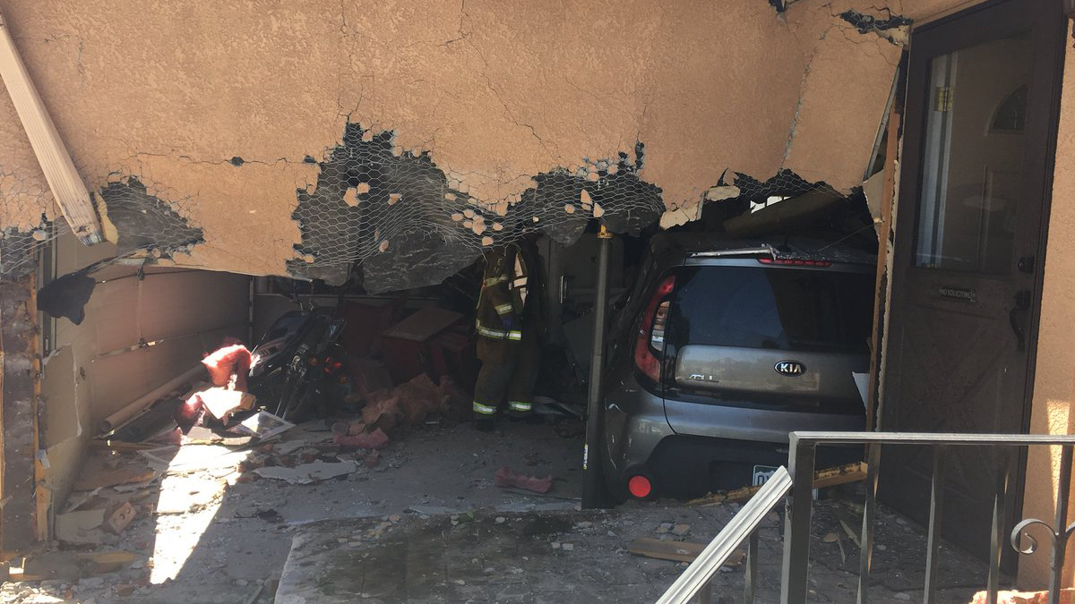 A speeding driver lost control and crashed into the garage of a northern Colorado Springs home Monday morning, according to CSFD. Colorado Springs F