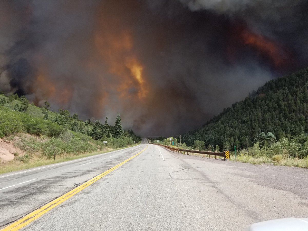 The Spring Fire burns near Highway 160. Colorado Department of Transport