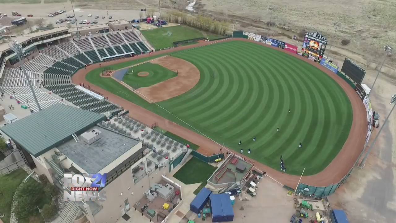 Security Service Field before the Sky Sox home opener on Friday, April 15, 2016. _ Tyler Barton - FOX21 News_161096