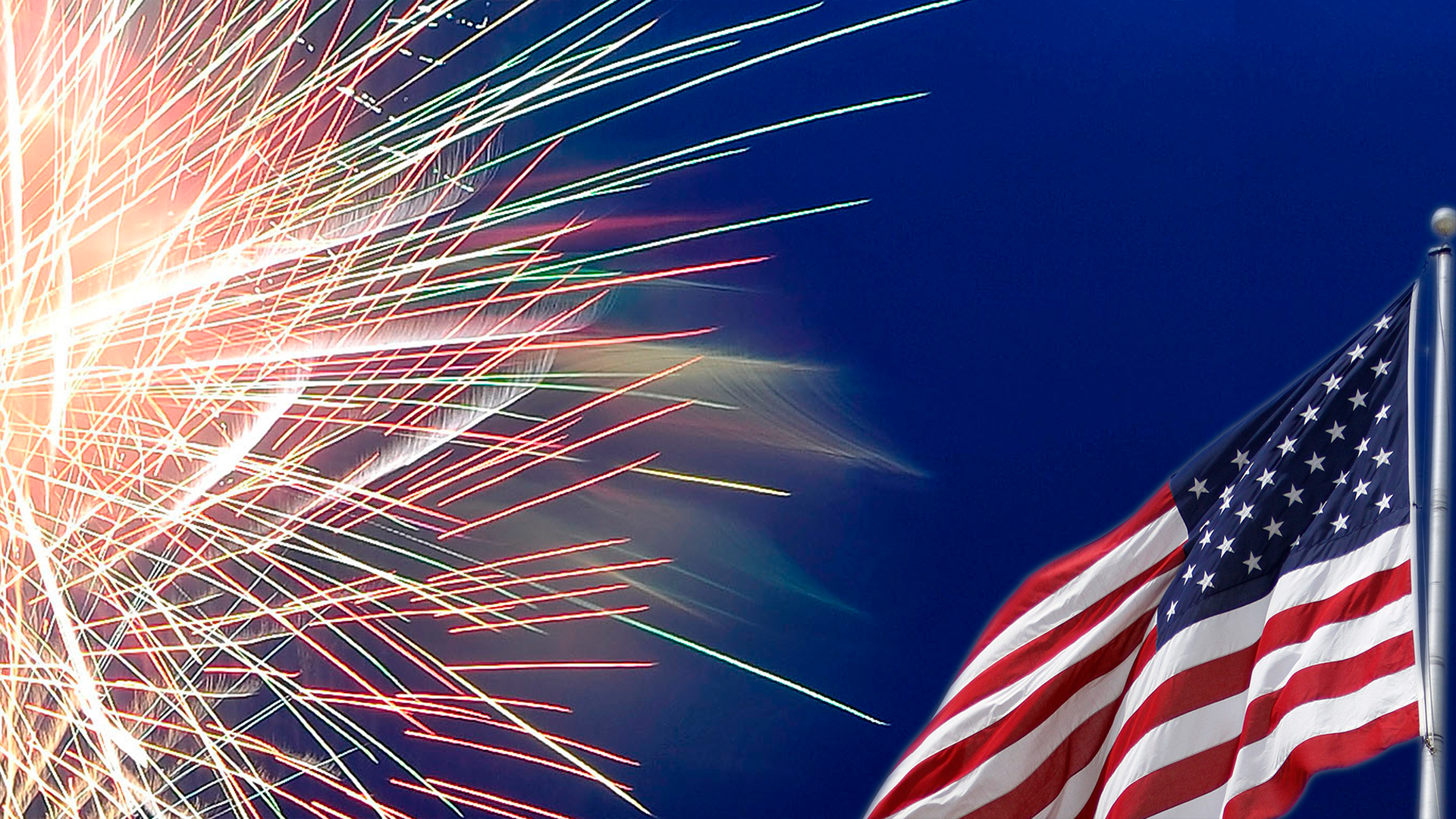 fireworks american flag fourth of july independence day graphic