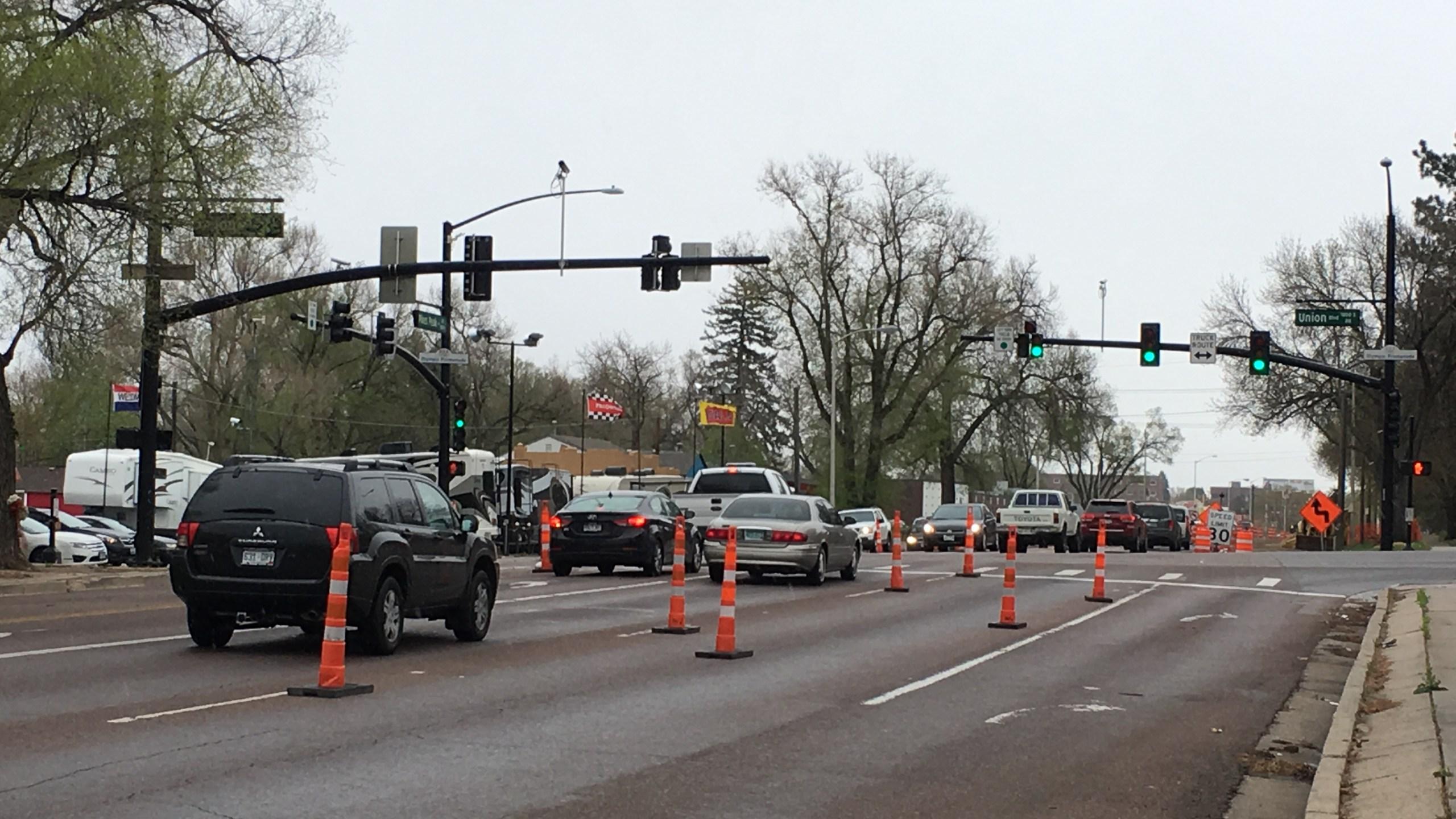 The intersection of Union Boulevard and Pikes Peak Avenue Thursday morning. Paula Buck - FOX21 News