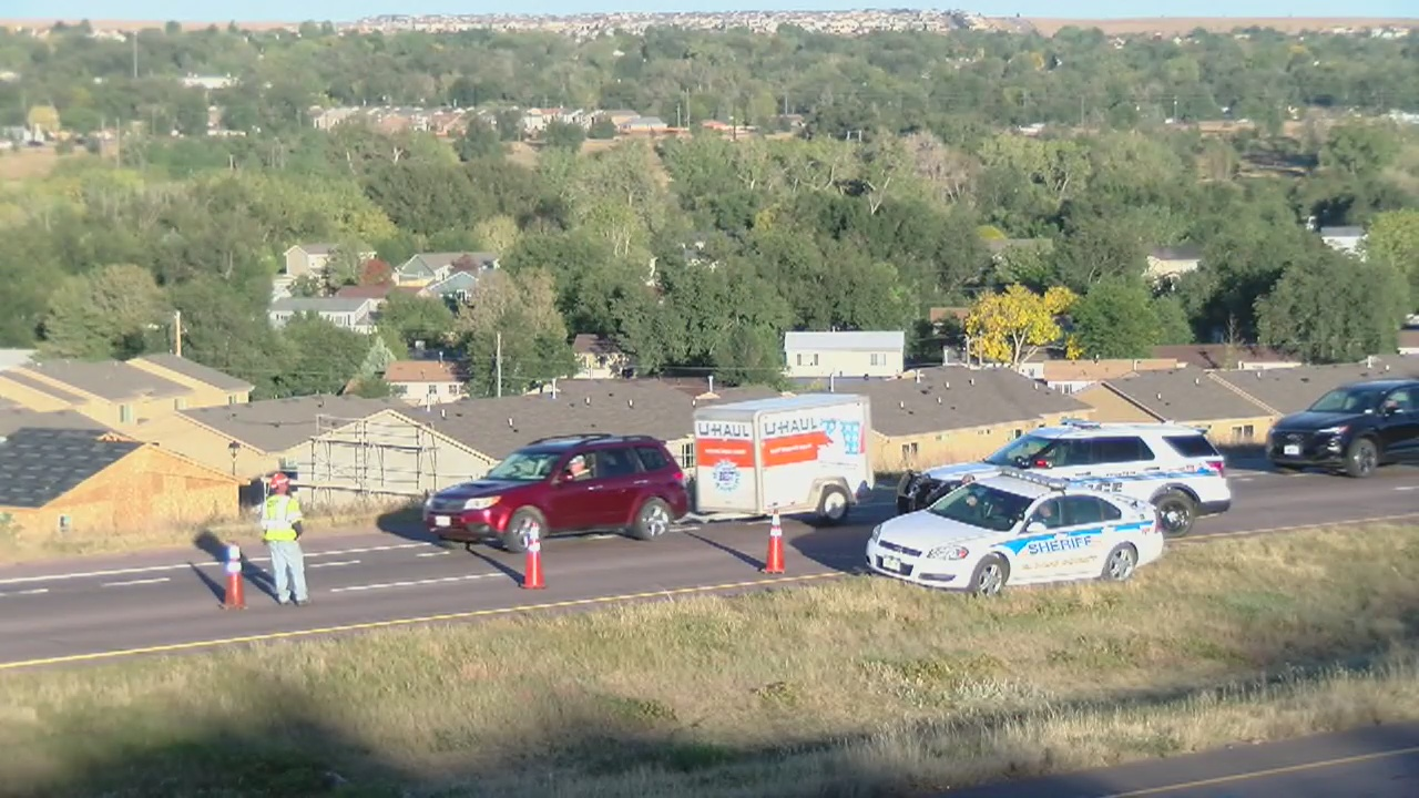 A motorcyclist was killed in a crash on Interstate 25 at the South Academy Boulevard interchange Thursday afternoon. Colin Mihalich - FOX21 News