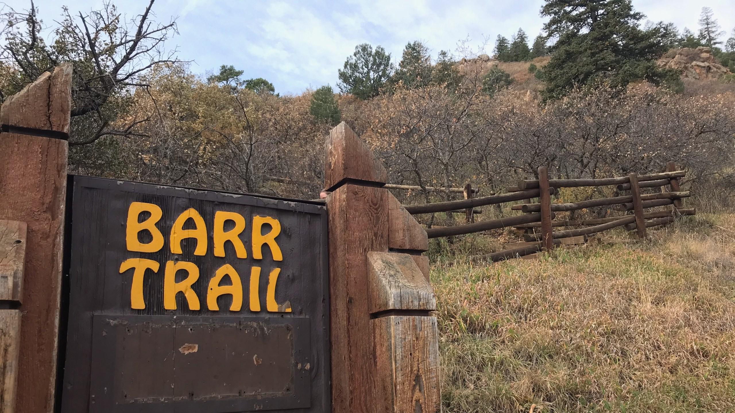 The Barr Trail trailhead on October 29, 2018. Shawn Shanle - FOX21 News