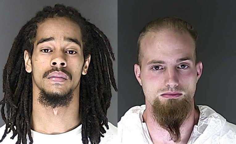 Terrell Hall, left, and Colin Kellet. The photo of Kellet is from a previous arrest. El Paso County Sheriff's Office