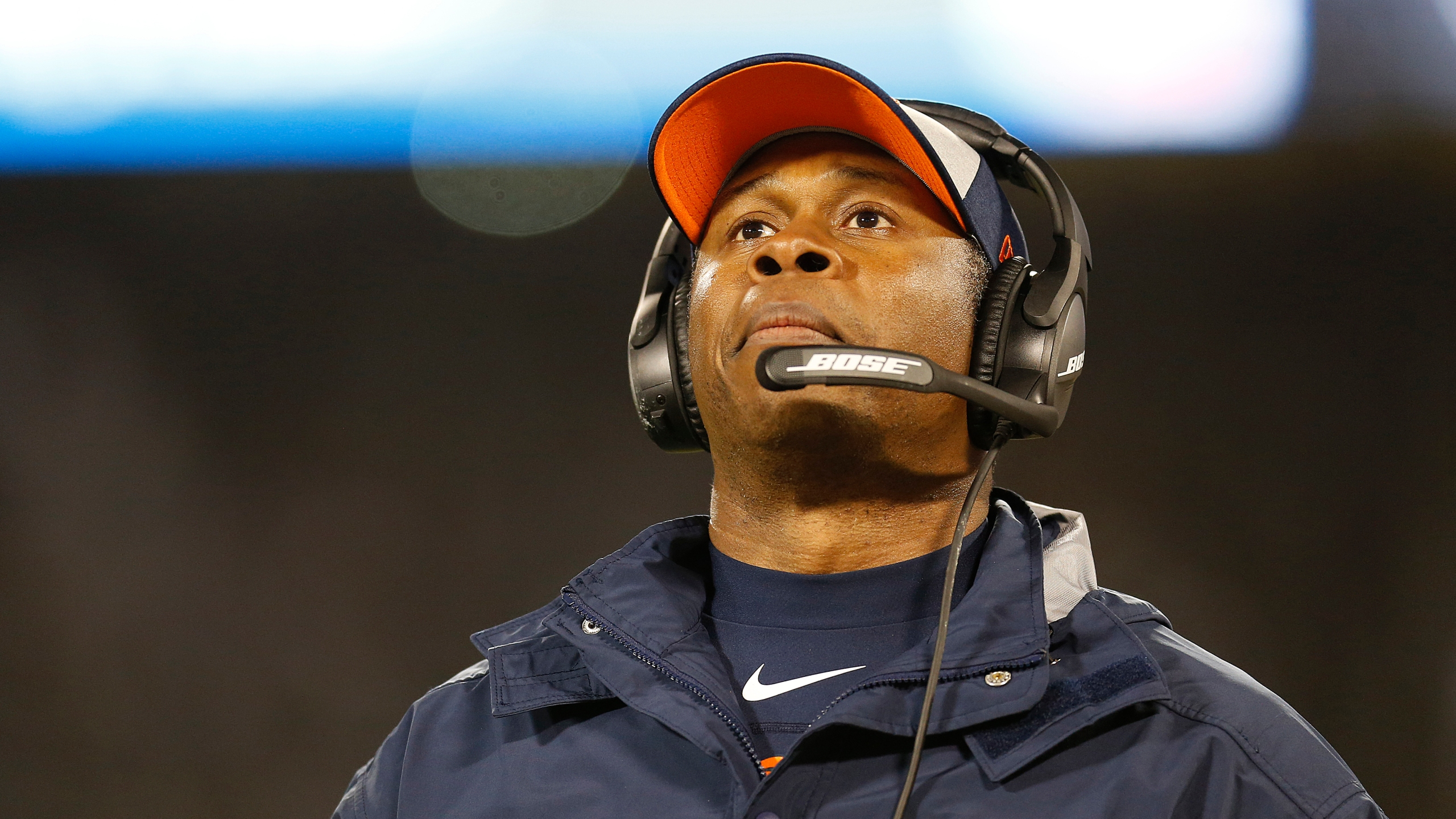 Denver Broncos head coach Vance Joseph watches during the second half of an NFL football game against the Oakland Raiders in Oakland, Calif., Monday,