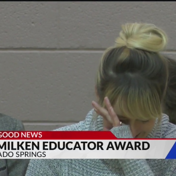 Teacher surprised with award
