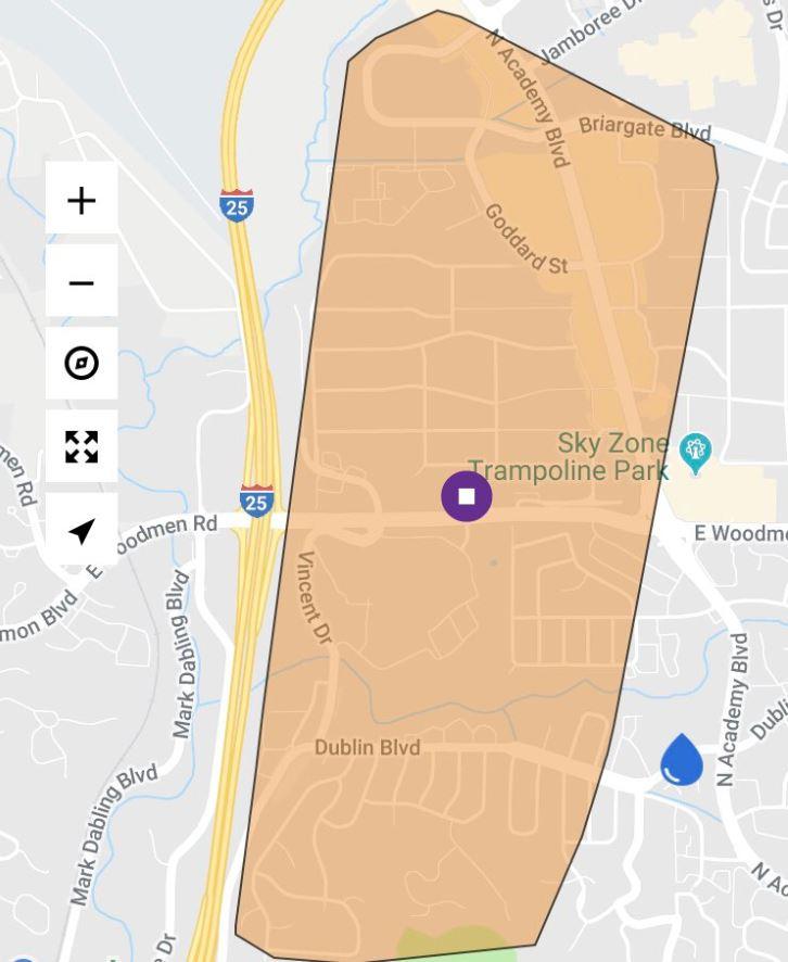Colorado Springs Utilities reporting outage