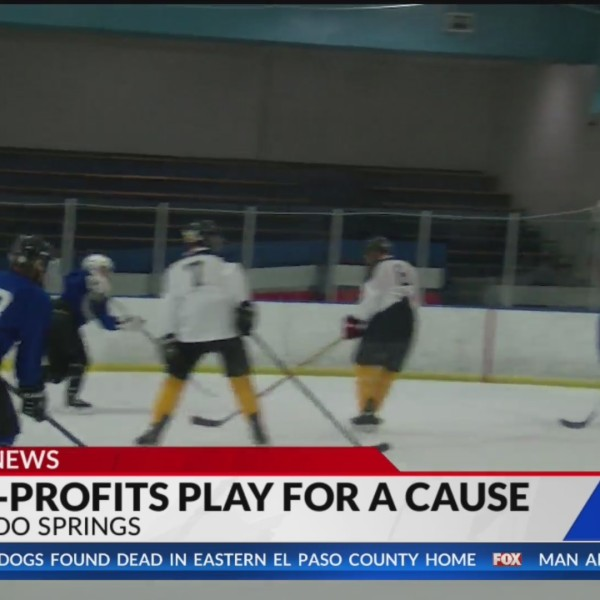 Builders face off against first responders in charity hockey game