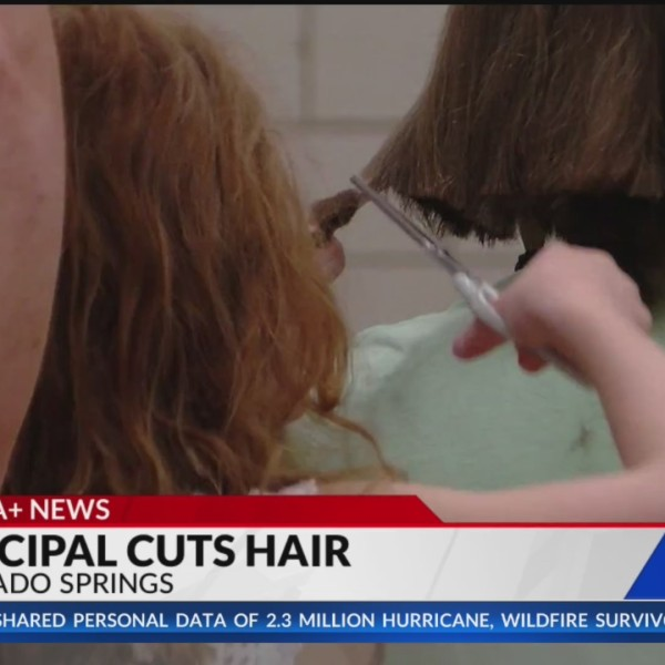 Colorado Springs students help principal donate hair to cancer patients