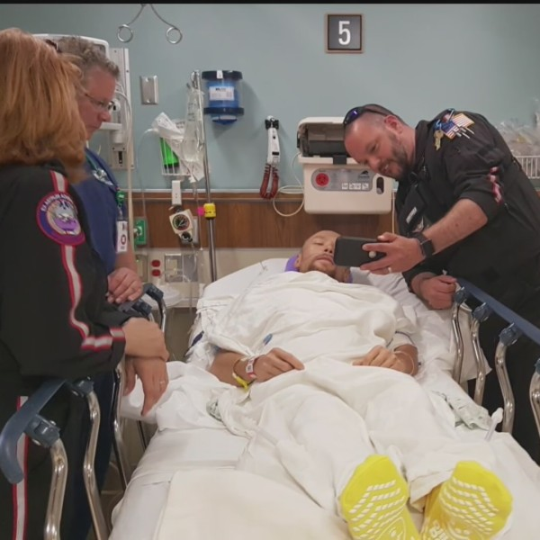 Hometown Heroes: Friends team up to save impaled biker