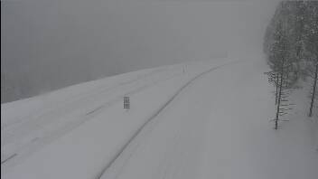 Interstate 70 about two miles west of the Vail Pass summit around 9 a.m. Thursday. Colorado Department of Transportation