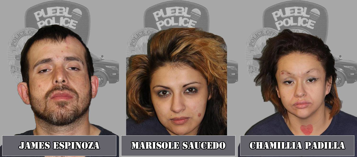 James Espinoza, Marisol Saucedo, and Chamillia Padilla Pueblo Police Department