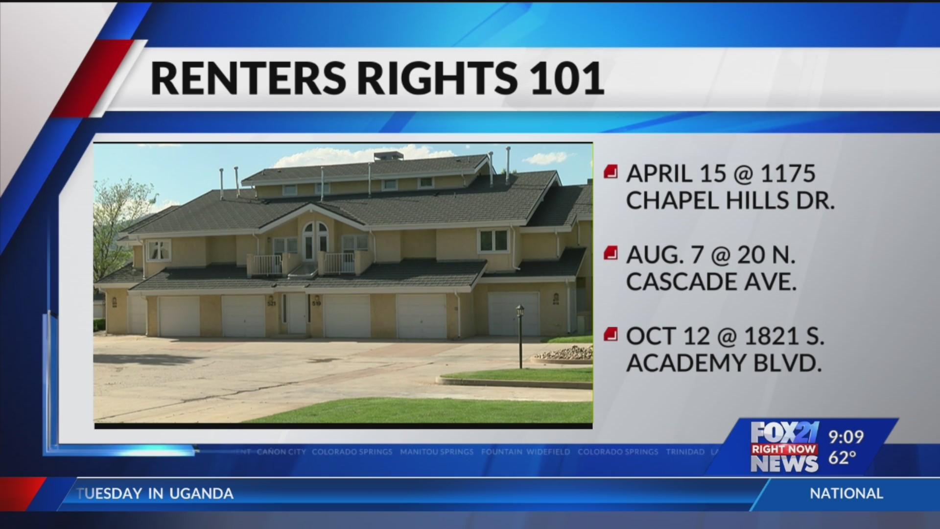 City Of Colorado Springs >> City Of Colorado Springs Hosting Renters Rights Workshops