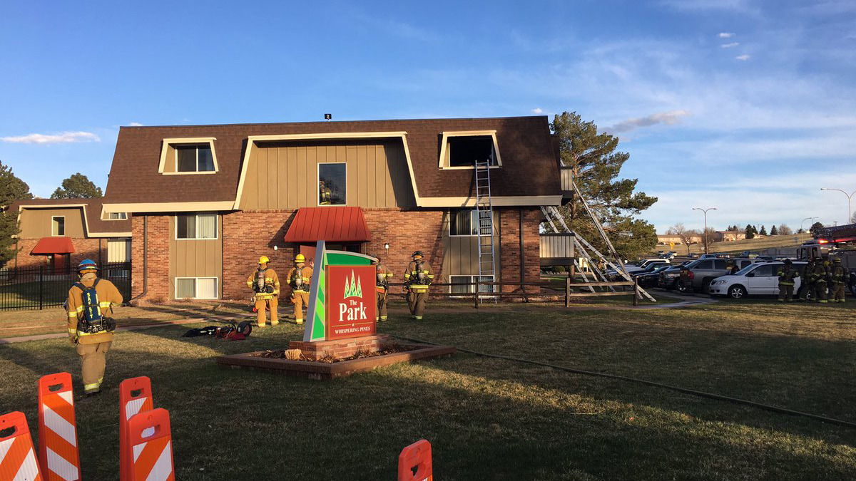 Two apartments were damaged in a fire in southern Colorado Springs Thursday. Photo courtesy Colorado Springs Fire Department
