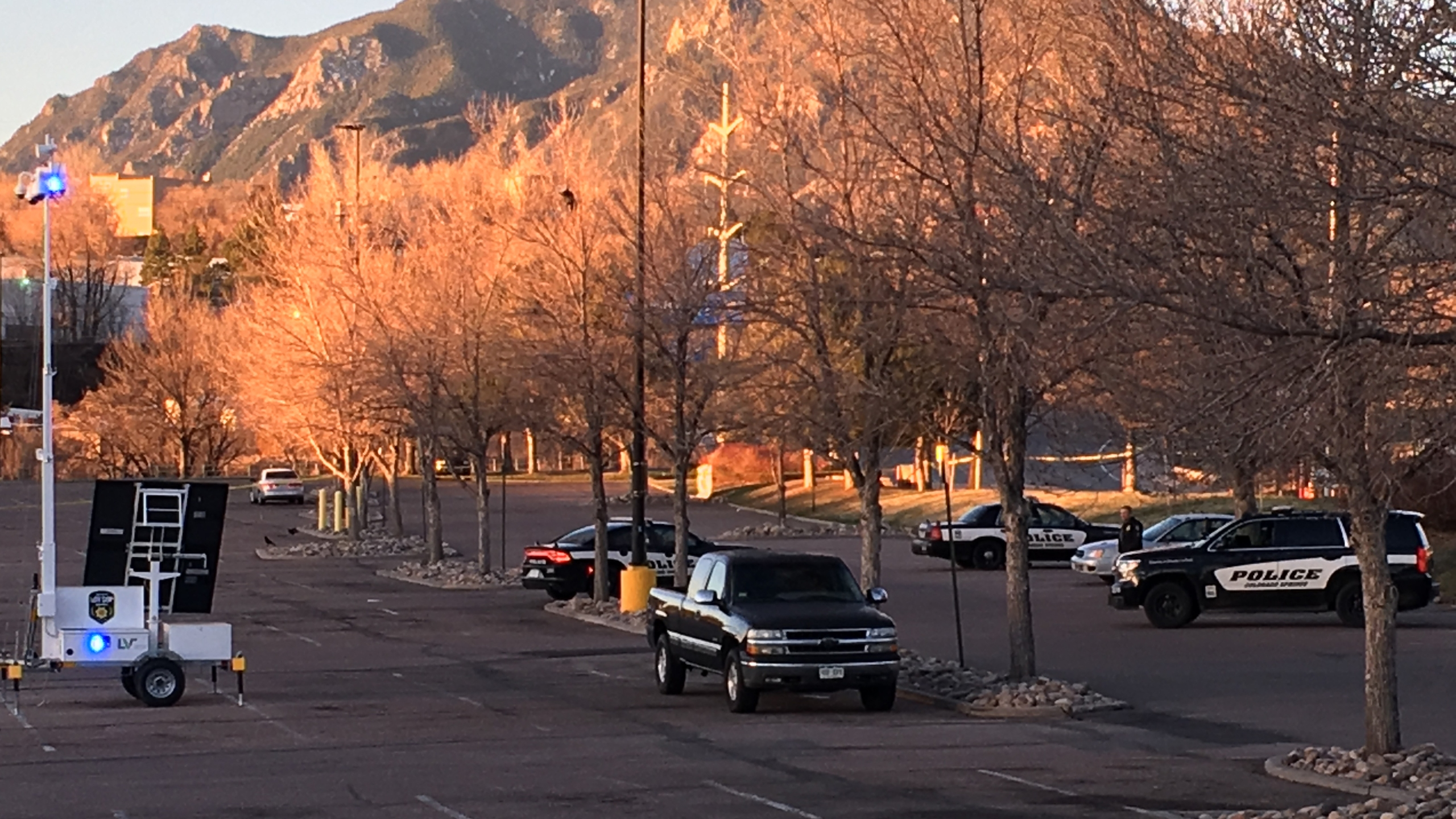 Police are investigating after a woman was found shot to death in a car at the Walmart on 8th Street in western Colorado Springs Thursday morning. P