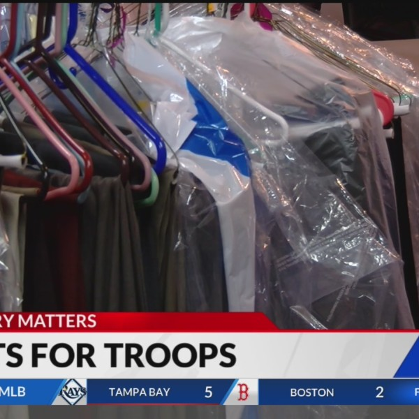 Organization collects professional clothes for military members transitioning to civilian life