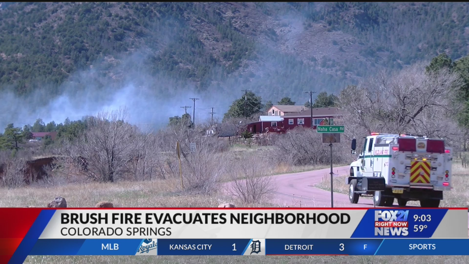 Evacuation orders lifted after fire burns south of Colorado