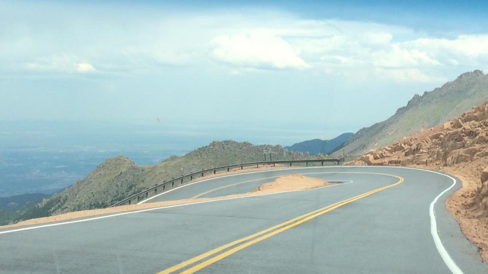 The Pikes Peak Highway in August 2016.