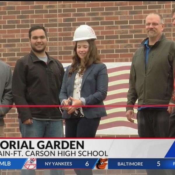Fountain-Fort Carson student unveils veterans memorial garden outside high school