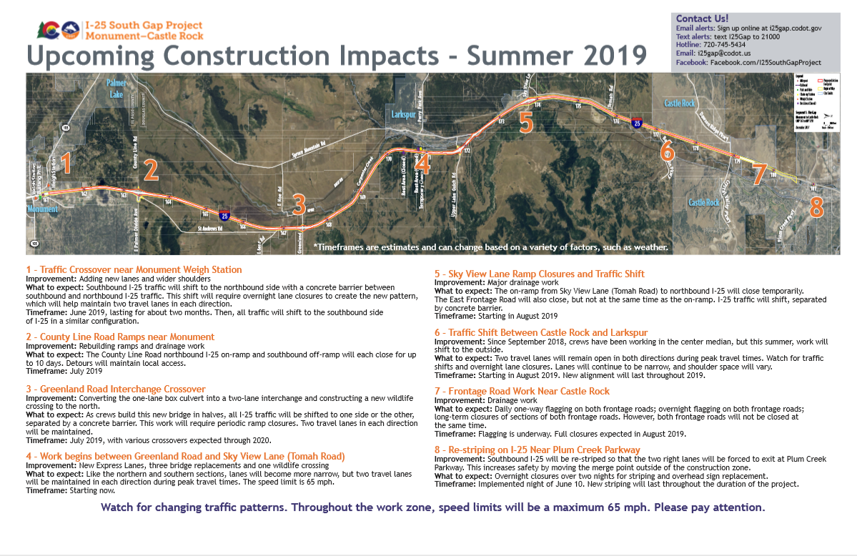 I-25 Gap construction increases for summer months