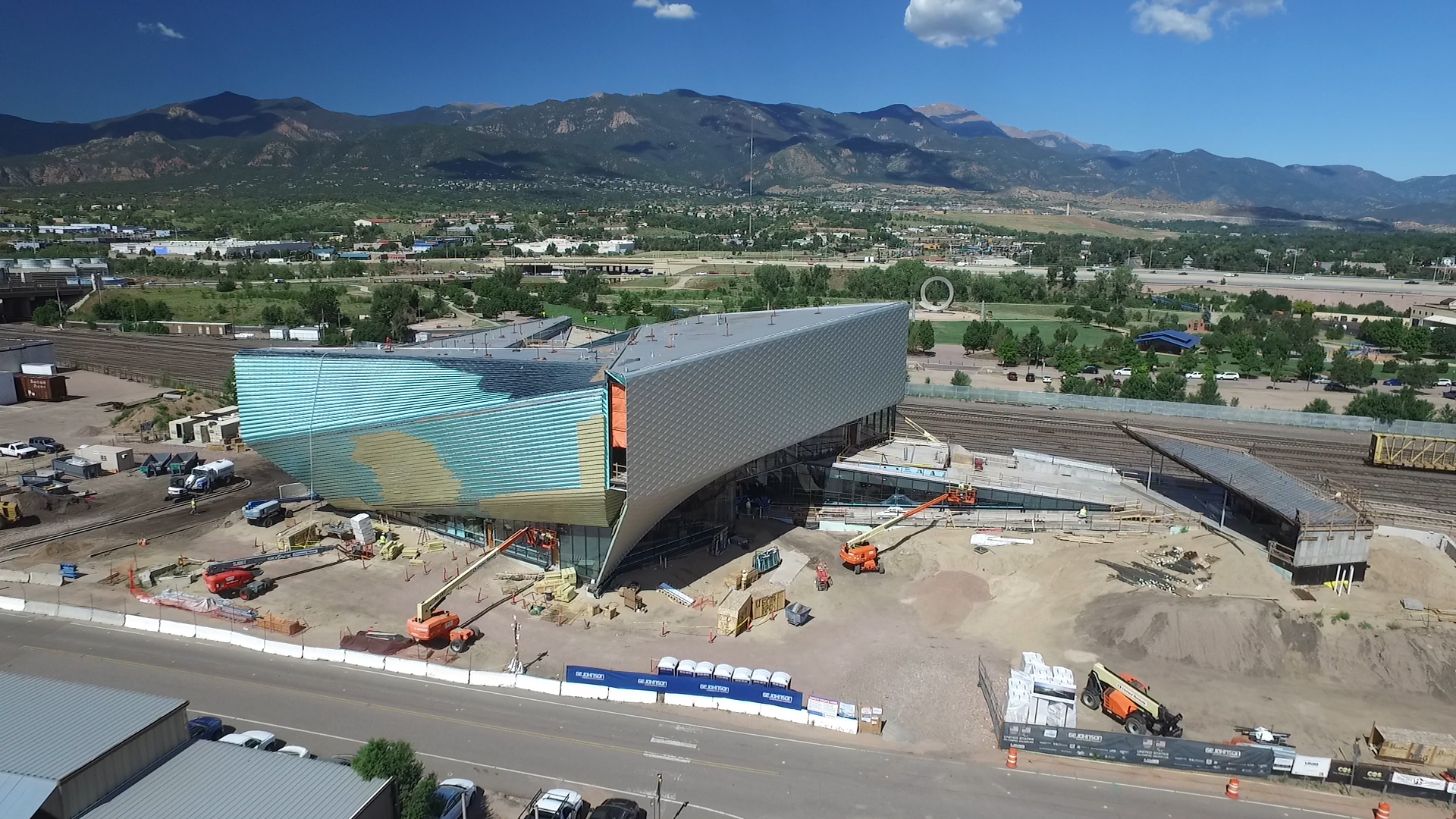 The under-construction U.S. Olympic and Paralympic Museum in July 2019. / Mike Duran, FOX21 News