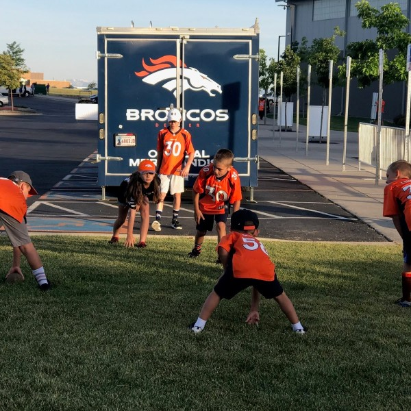 Broncos fans wait outside UCHealth Training Center before gates open to the public Thursday morning. / Shawn Shanle - FOX21 News